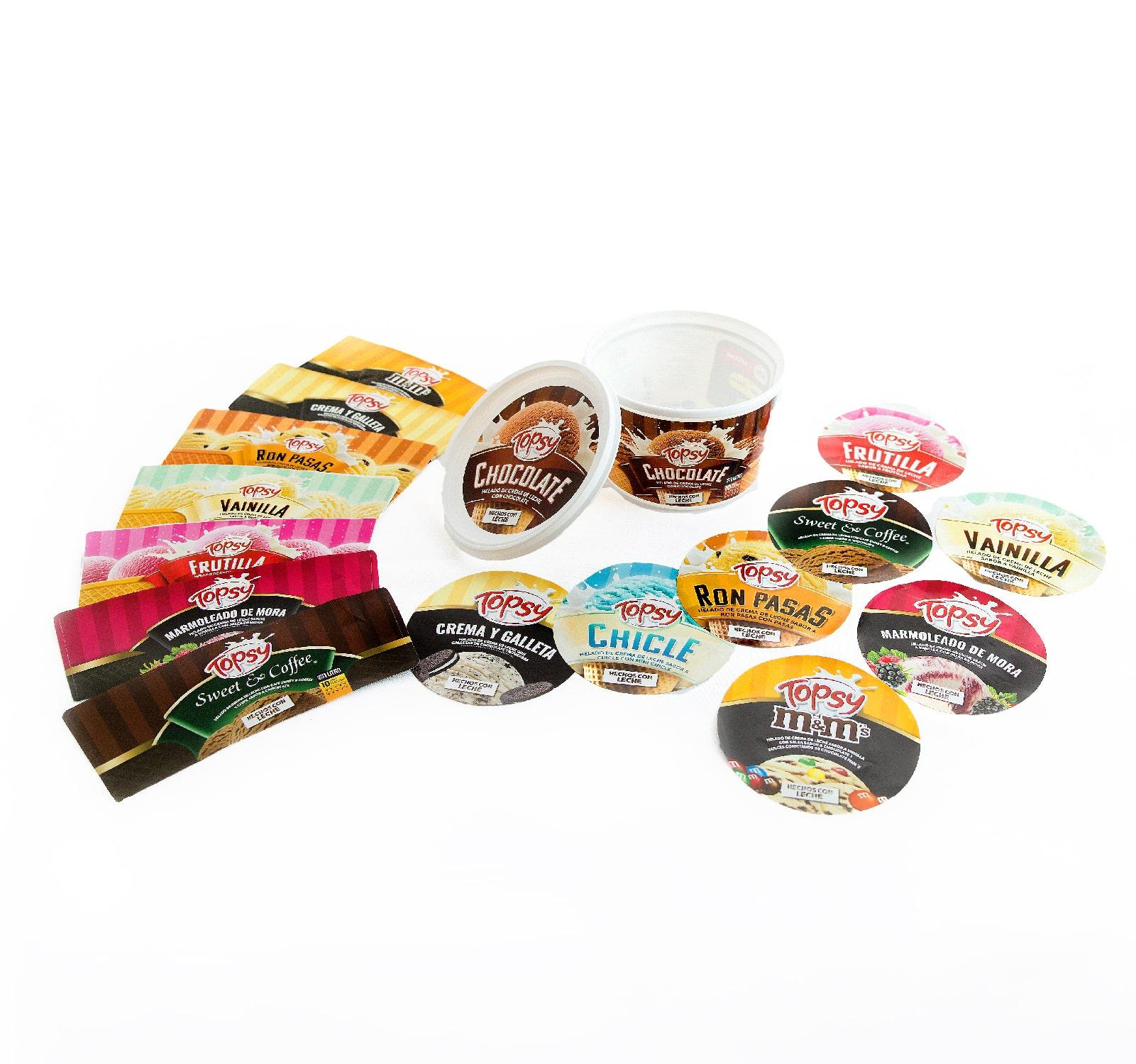 impresión de etiquetas para congelados - helados - dulces refrigerados