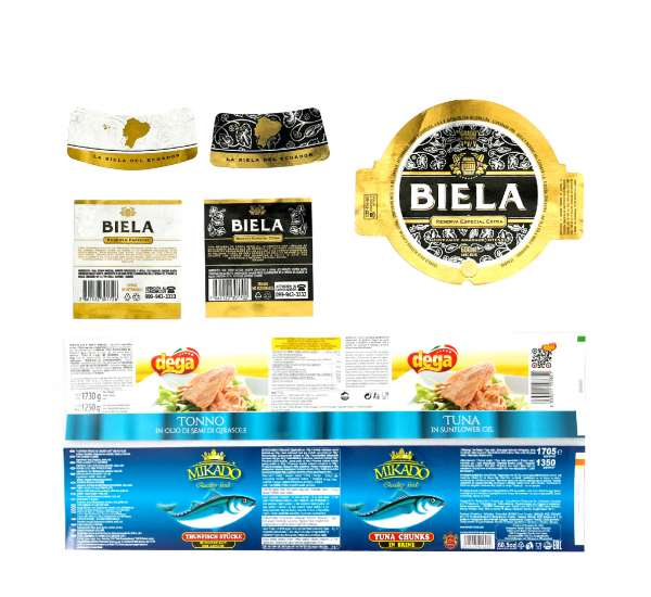 Etiquetas para atunes y conservas