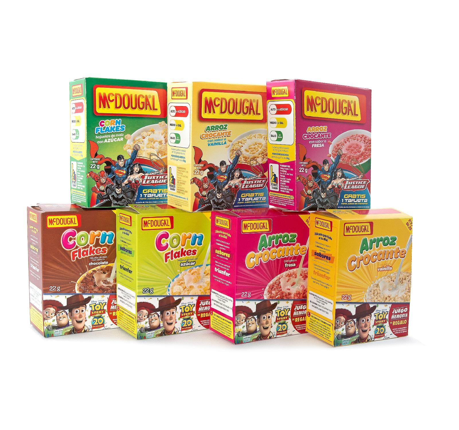 elaboración de cajas de cereal