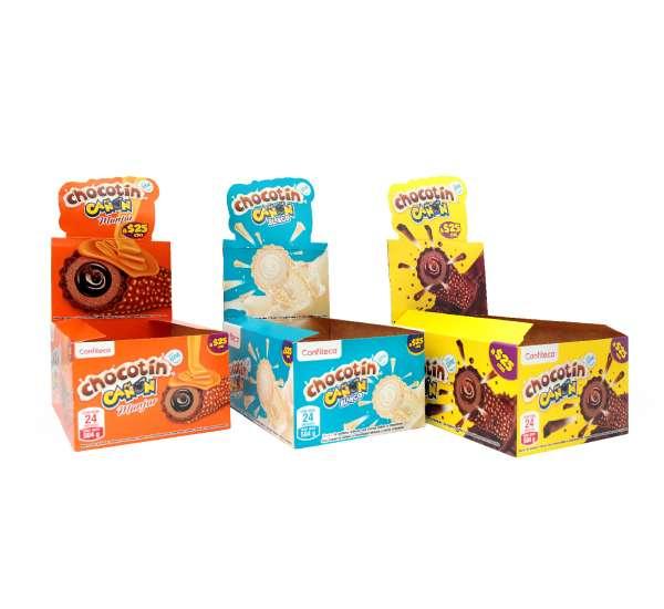 exhibidores cajas para chocolates