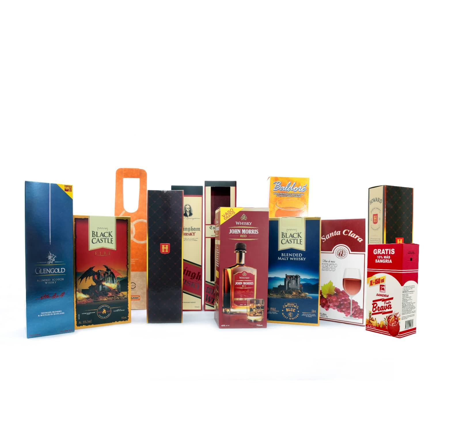 cajas bebidas y licores