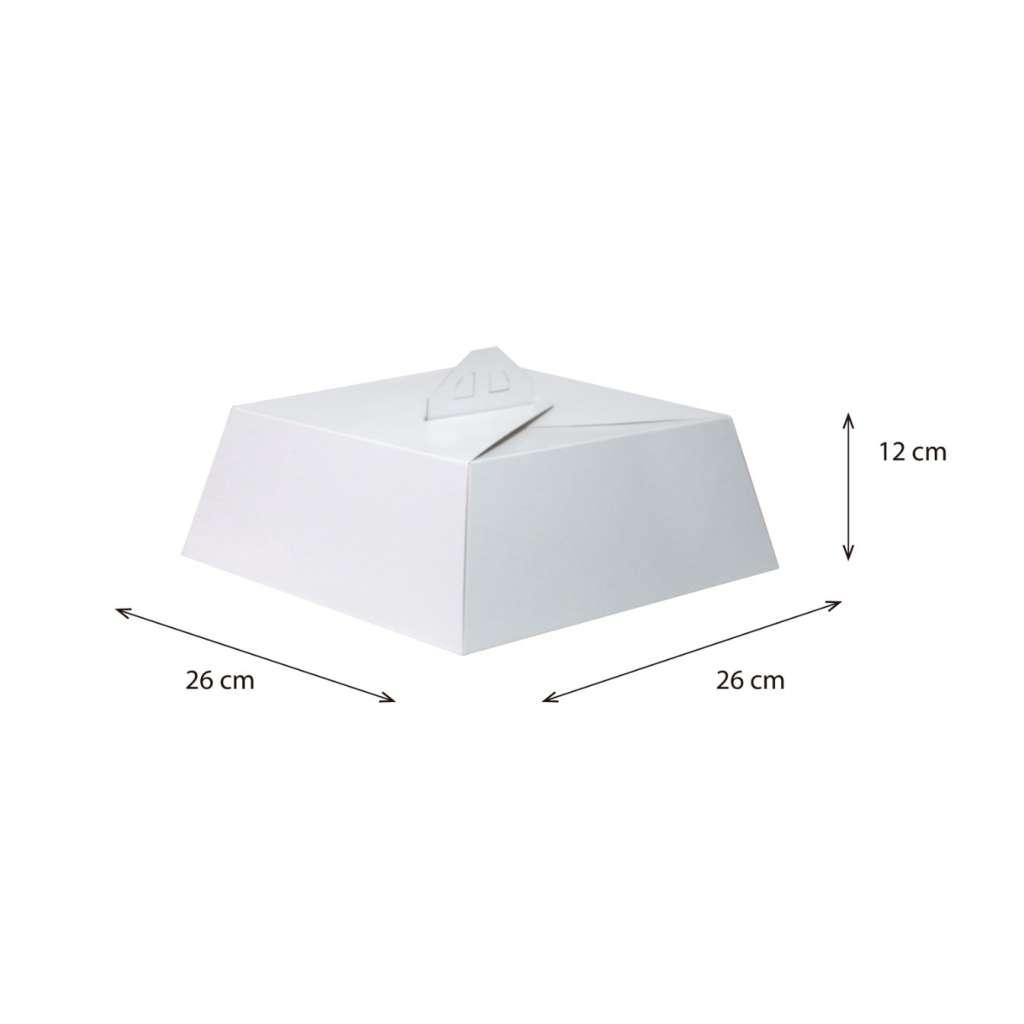 Cake Box 1/2 Libra sin impresión
