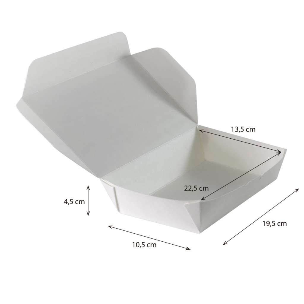Lunch box rectangular reforzada impermeable y antigrasa