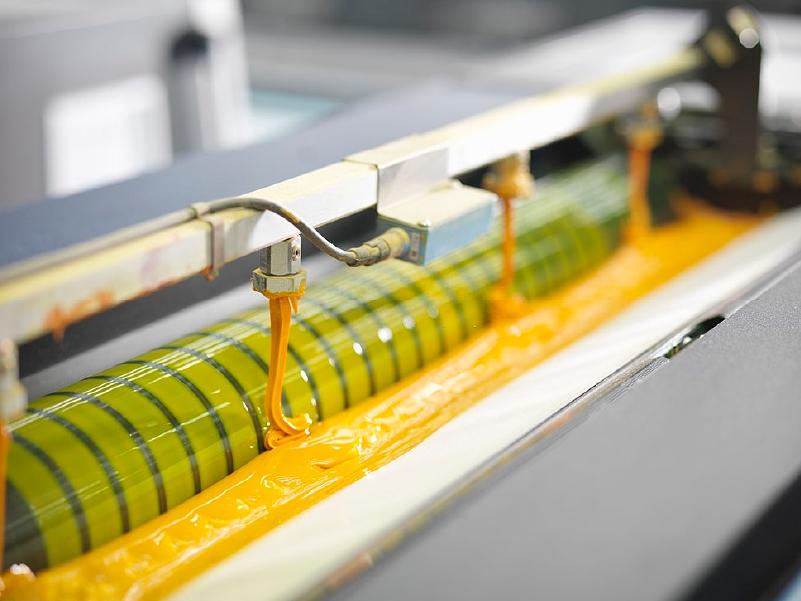 recarga de tintas de impresión offset