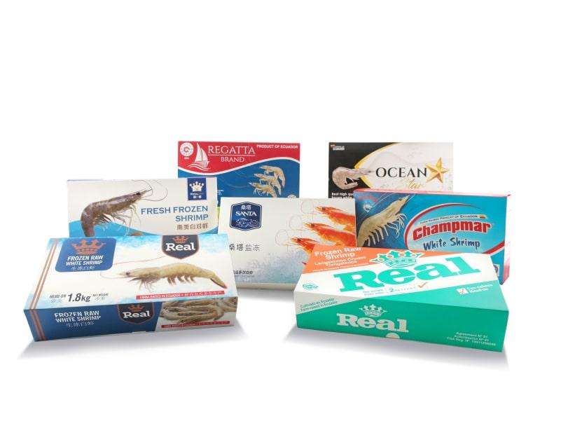 cajas plegadizas para sector camaronero